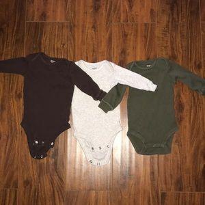 Bundle of three Carter's onesies